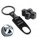 4pcs Car Wheel Tire Valve Stem Air Valve Caps Key Chain for John Cooper Works