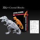 3D Crystal Puzzle Jigsaw Model Tyrannosaurus Rex T-Rex Dino Dinosaur Clear White
