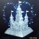 3D Crystal Puzzle Jigsaw Model 105 pcs Castle Fort CLEAR White NEW