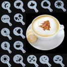 16Pcs Latte Art Stencils Templates Cappuccino Coffee Foam DIY Decor Tool Cake