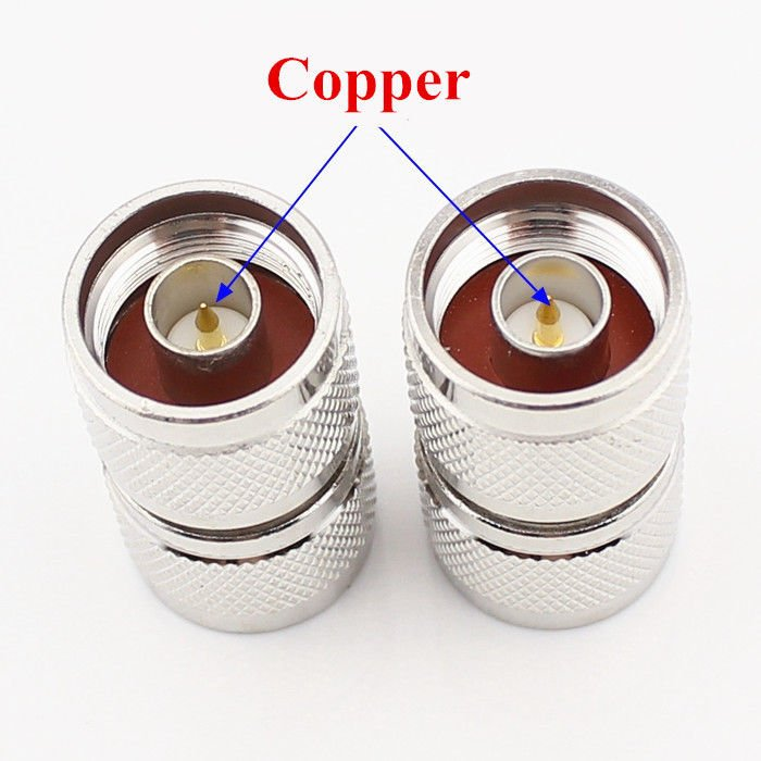 5 pcs N Type Male Plug to N Plug straight RF Adapter coupler connector Zinc Alloy