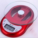 Gorgeous Useful Mini Digital Food Kitchen Glass Scale 1 g to 5kg Clock Timer