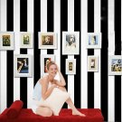 Modern Luxury Black White Vertical Stripe Print Wallpaper Wall Paper 10M Roll