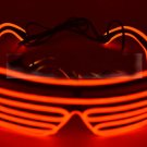 Portable Fashion 3 Mode EL LED Glasses w/ Remote Controller for Party Concert