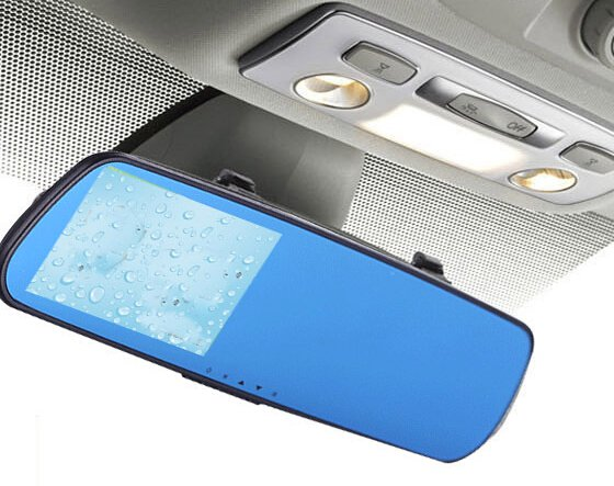 HD Dash Cam Video Recorder Rearview Rear Mirror Car Camera Vehicle DVR