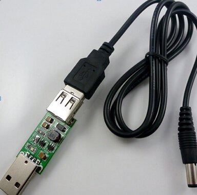 USB DC 5V TO 12V Step-up Module for GoIP VOIP Gateway Solar Battery Mobile Power