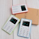 New Ultra Slim OLED Mobile Cell Phone MP3 Speaker 1 inch Card Phone Alarm Clock