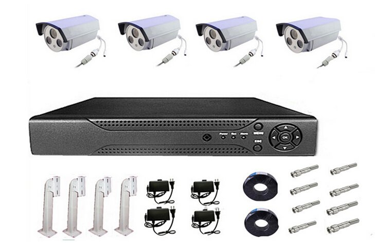 8CH Channel Network NVR 4 1080P 2MP HD Onvif IR Night Vision Wireless IP Camera