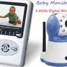 2.4GHz Wireless Digital Baby Monitor Camera with LCD Video DVR Two Way Speaker