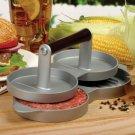 Nonstick Aluminum Hamburger Beef Grill Double Burger Press Maker Kitchen Mold