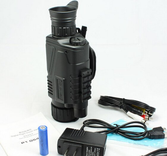 5X40 Digital IR Night Vision 5 MP Pixel Monocular 200m Range Takes Photo Video