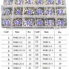 18 Sizes 133pcs Bare Wire Crimp Spade Terminals Connectors Assortment Kit