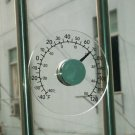 Round Design Stick On Transparent Plastic Outdoor Window Thermometer