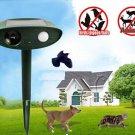 Ultrasonic Solar Power Pest Animal Repeller Repellent Garden Cat Dog Foxes Bats