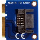 MSATA to SATA 7 pin SSD Festplatte HDD Mini PCIe mSATA Adapter Converter