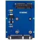 Slim Type Mini PCI-E mSATA SSD to 2.5 inch SATA 3.0 22pin HDD Adapter Conveter