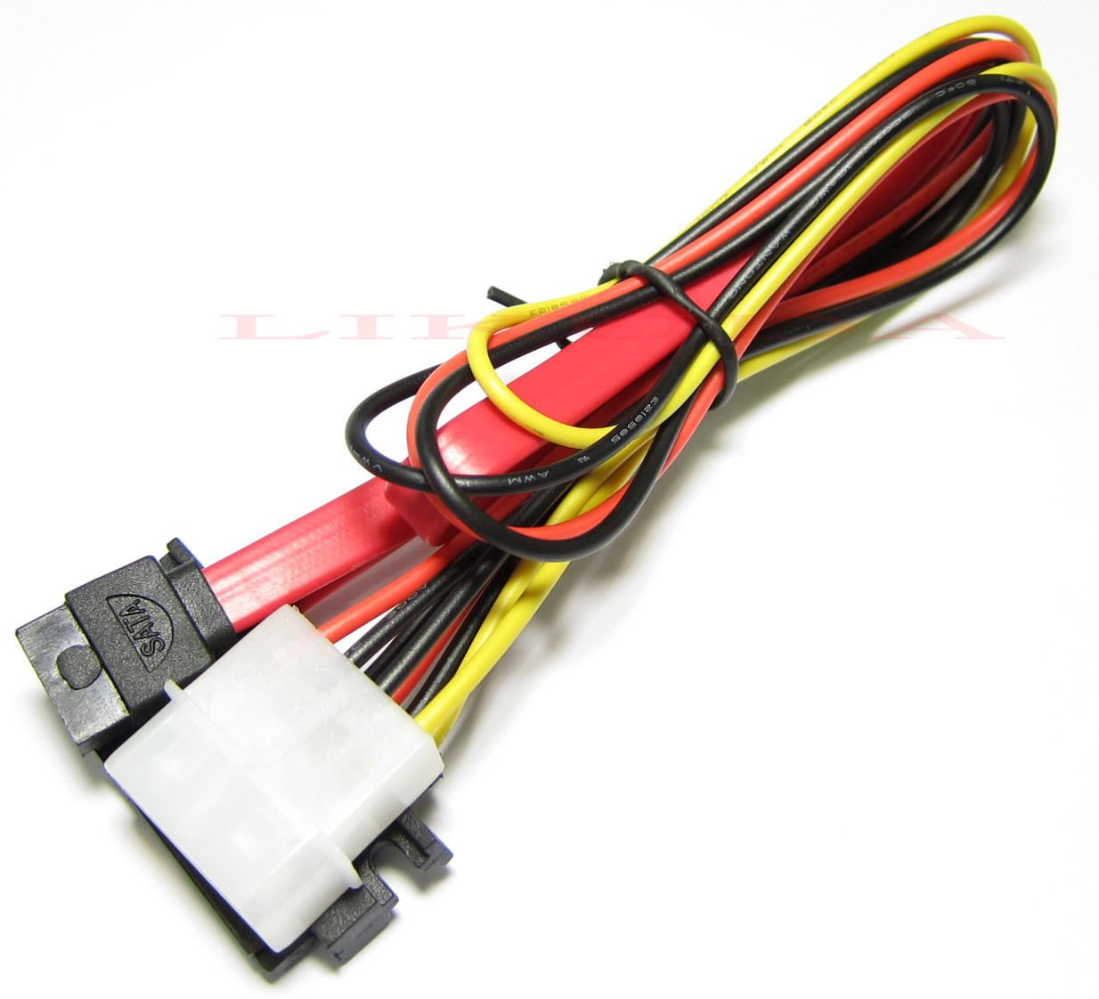 3 pcs Desktop PC Computer 7+15 Pin to 4 Pin IDE Power Serial ATA SATA Data Cable