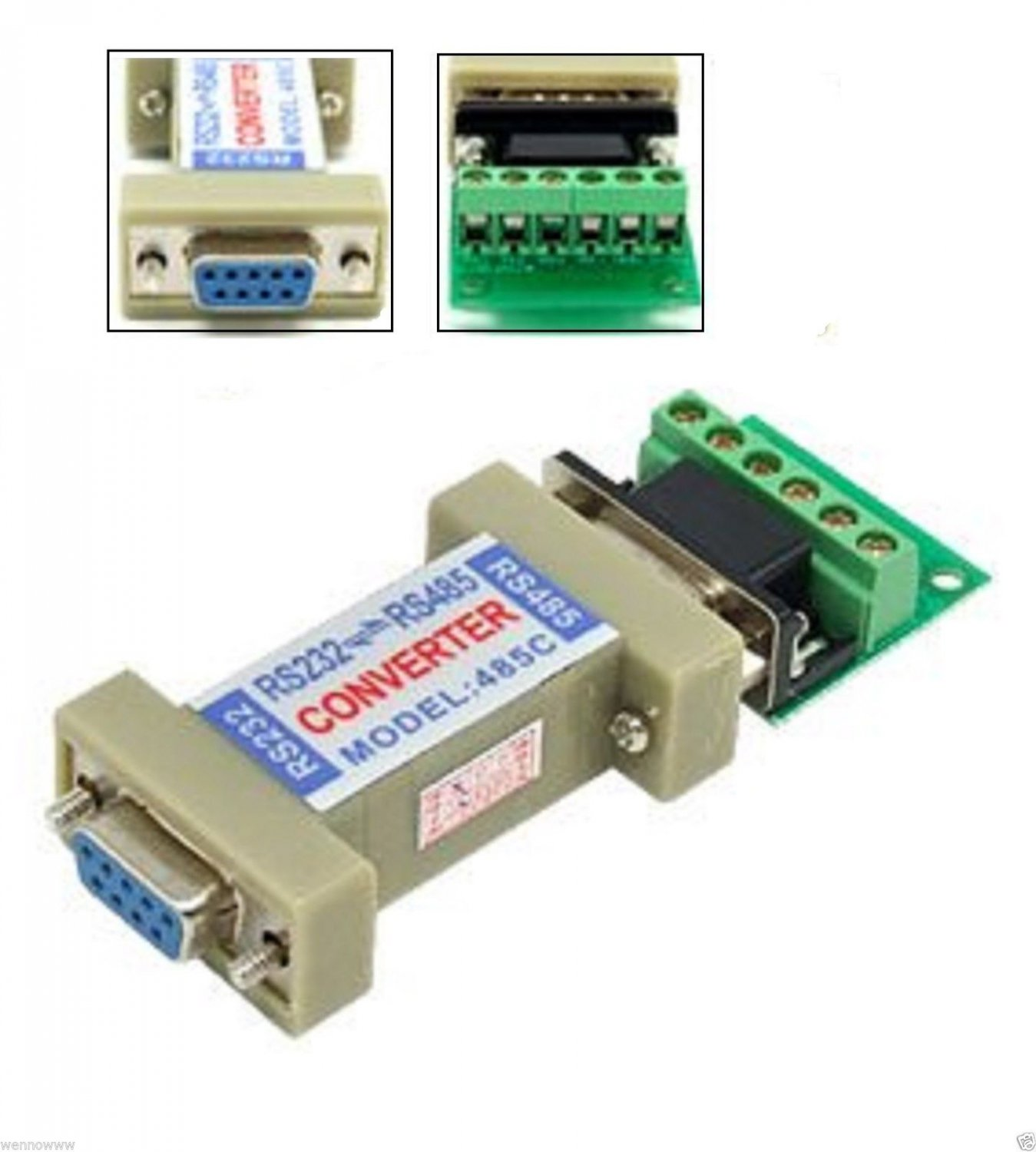 RS-485 to RS-232 RS232 RS 485 232 Signal Interface Adaptor Data Communication