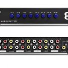 New 8 Ports Composite Video Audio 3 RCA AV Switch Switch Box Selector 8 In 1 Out