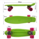 Green Pink Color 22'' Retro Skateboard Penny Skate Board Graphic Plastic Deck