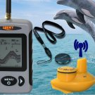 Wireless Check Find Fish Finder Alarm 40M 120FT Sonar Depth Ocean River Lake
