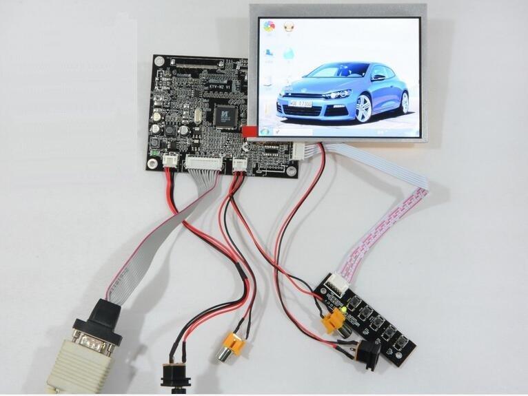 VGA AV Reversing Controller Board 5.6inch INNOLUX AT056TN53 LCD Screen 640x480