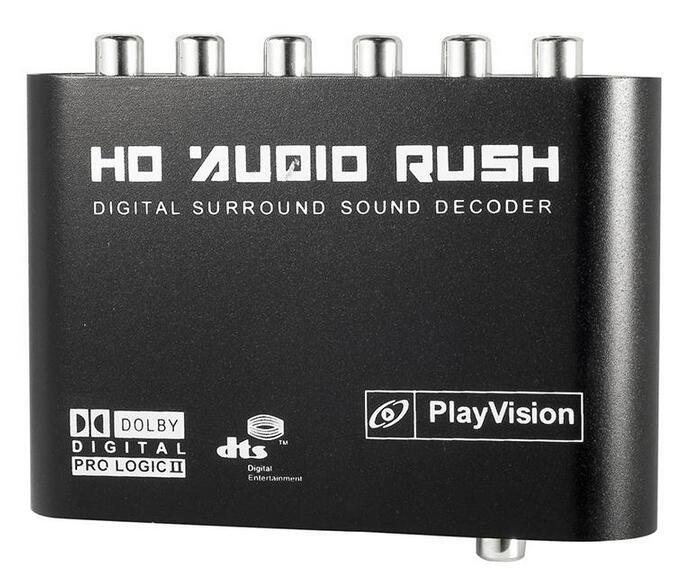 AC3 DTS Digital to Analog Audio 5.1 CH Optical SPDIF Gear Sound Voice Decoder