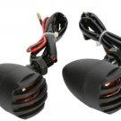 2X Motor Motorcycle Turn Signals Mini Bullet Blinker Amber Indicator Lights Lamp