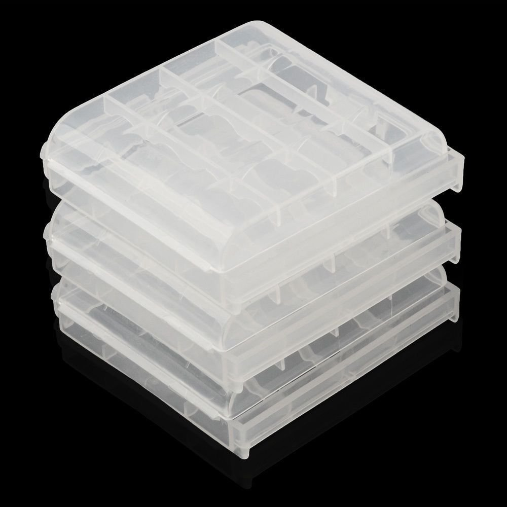 10 pcs 10X Hard Plastic Case Holder Storage Box for AA AAA Battery Batteries Box