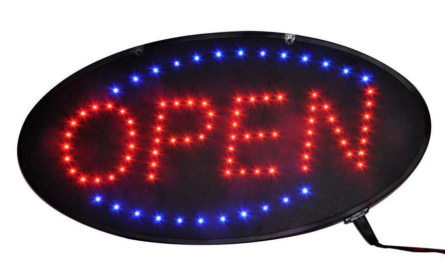 "Electronic Flashing LED Beautiful Neon OPEN Sign - 19"" L x 10"" W Mega Sales"
