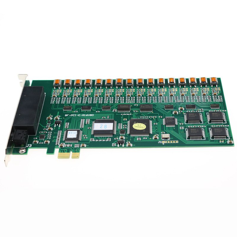 16 Port Channel PCI-Express PCIE PCI-E Monitoring Telephone Call Recording Card