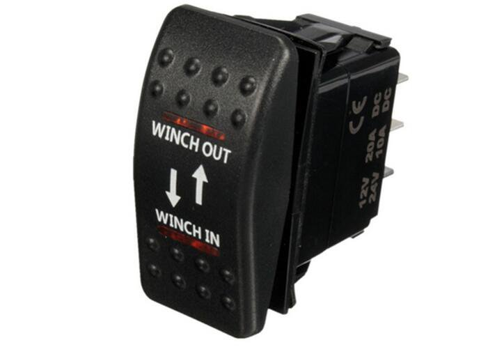 12V 7 Pin 20A Winch In Out ON OFF ON ARB Rocker Switch Car Boat 4 Colors LED