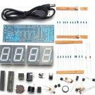 DIY 4 Digit LED Electronic Clock Kit Temperature Light Control Version Display