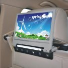 9 inch Digital LCD Screen Headrest Car DVD Player Monitor USB SD Player IR Gray