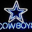 17 x14 inch DALLAS COWBOYS NFL FOOTBALL REAL GLASS BEER BAR PUB NEON LIGHT SIGN