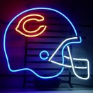 Football C Helmet Real Glass Neon Light Sign Home Beer Bar Pub Sign 17x14 inch