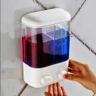 Wall Mounted Soap Shower Bath Liquid Shampoo Manual Dispenser Bathroom Washroom