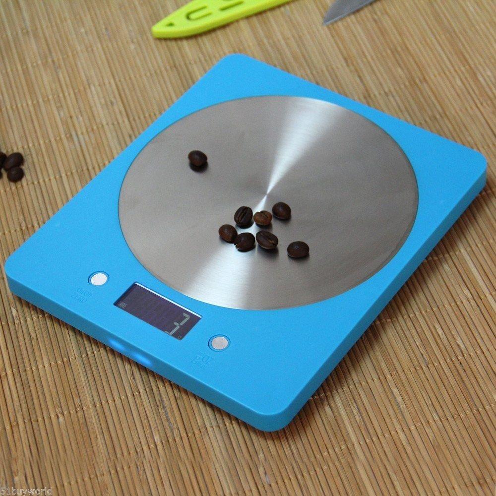 New 5KG 5000g 1g Digital LCD Electronic Kitchen Food Diet Postal Scale 4 Sensors