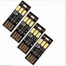 Pack 4X  LED Sensor Keychain USB Light Mini Pocket Card Lamp Laptop Notebook PC