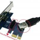 New PCI-e 1x Card Test Tool Protecting Motherboard PCIe Male to Female extension