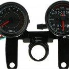 Motorcycle Motor Tachometer Km h Speedometer Odometer Gauge LED Back Signal