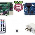 Pack B Raspberry Pi 3 Model B Mother Board Pioneer600 8GB Micro SD Card WiFi