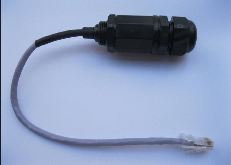 5 pcs RJ45 Ethernet Network LAN M20 Waterproof Connector adaptor w/ 20cm Cable
