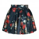 New Women Floral flower High Waist Skater Flared Pleated Mini Short Skirt Dress