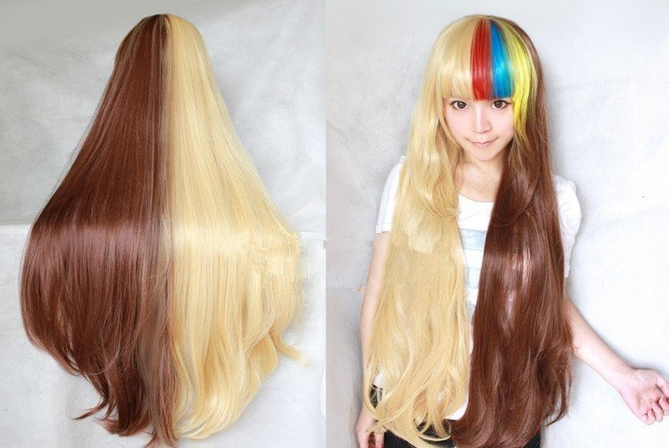 New Front 4 Colors bangs 1 meter Thick Cos Cosplay Stylish Straight Wig Wigs
