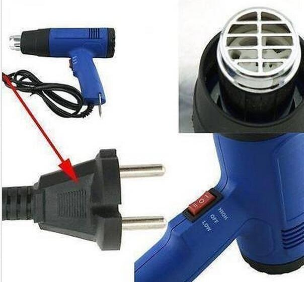Heat Gun Hot Air Dual Temperature 4 Nozzles Power Tool 1500 W Heater Temp Gun