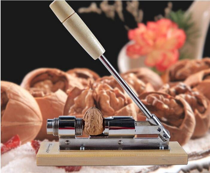 New Mechanical Sheller Walnut Nut Shell Crack Cracker Fast Opener Kitchen Tools