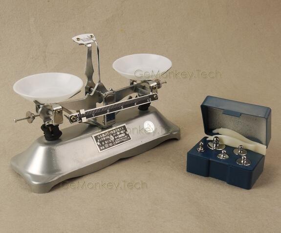 100 Gram Mechanical Table Balance Scale 0.1g & 5 PCS Precision Calibration Scale
