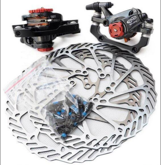 New Avid BB7 MTB Mechanical Disc Brake Calipers Front & Rear with 160mm rotors