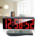 Remote LED Digital Wall Clock Table Duai Alarm Timer Stopwatch Countdown Snooze